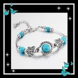Jewelry - Super cute turquoise butterfly bracelet